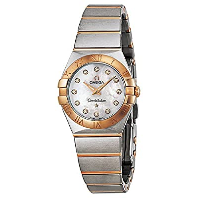 Omega Women's 12320246055001 Constellation Analog Display Swiss Quartz Silver Watch