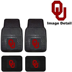 Ou university of oklahoma sooners front rear for Parquet mat ou satine