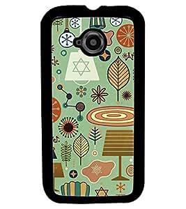 Fuson Premium Twinkle Metal Printed with Hard Plastic Back Case Cover for Motorola Moto E (2nd Gen)