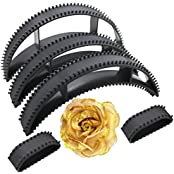 Hair Bumpits With Golden Rose Clip (Combo Of 6 Pic) For High Hair Volumizer, For Women Hair Styling And Hair Do...