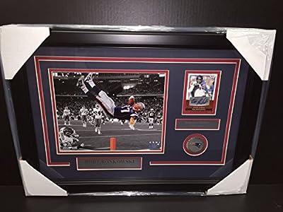 Rob Gronkowski Autographed Sage Auto Framed 8x10 Photo New England Patriots