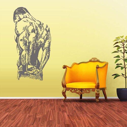 Wall Decal Vinyl Decal Sticker Decals Gym Gymnastics Muscule Fitness Sport Man z1693