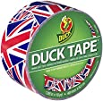 Duck Brand 282221 Union Jack Printed Duct Tape, 1.88 Inches x 10 Yards, Single Roll