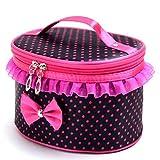 Kingfansion Portable Travel Toiletry Makeup Cosmetic Bag Organizer Holder Handbag (Black)