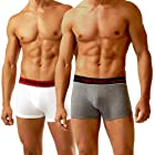 New Balance Men's 2 Pack Trunk with Red Band