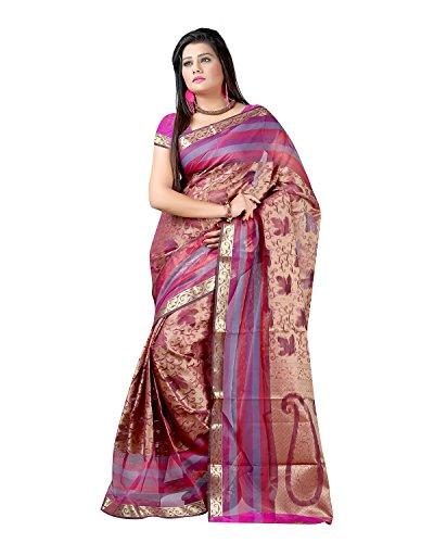 Sai Krupa Silk Women's Silk Brocade Sarees(Pink