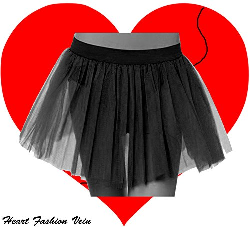 Black Plus Size Tutu Skirt 3 Puffy Layers Length 15