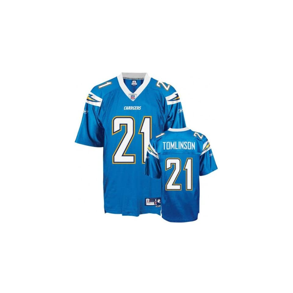 LaDainian Tomlinson  21 San Diego Chargers Replica NFL Jersey Powder Blue  Size 50 (Large 150d9111c