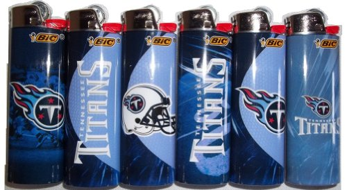 6pc Set BIC Tennessee Titans NFL Officially Licensed Cigarette Lighters mars pattern warhound titans full set f006