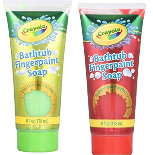 Crayola Bathtub Fingerpaint Soap, Electric Lime Green & Radical Red Raspberry (2 Pack 6 Oz each) (Bathtub Paint For Kids compare prices)
