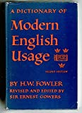 A Dictionary of Modern English Usage (0195001540) by Fowler, Henry W.