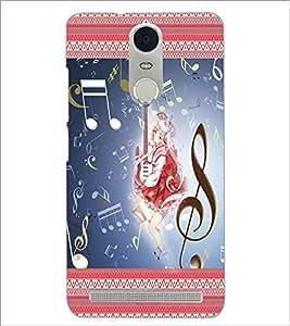 PrintDhaba Music Girl D-2484 Back Case Cover for LENOVO K5 NOTE (Multi-Coloured)