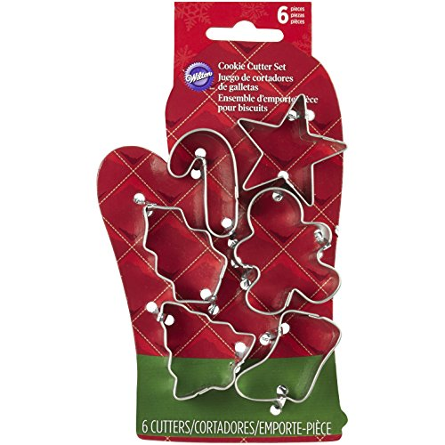 Wilton 2308-5076 6-Piece Christmas Cookie Cutter Set, Mini
