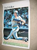 "* PAUL MOLITOR * Milwaukee Brewers HOF signed 23x35"" Sports Illustrated poster"