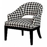 "Madison Park Crystal Keyhole Tulip Arm Chair - Black - 28.1W x 28.7D x 31.5H"""