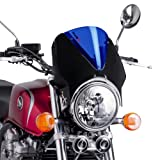 Fly screen Puig Vision black / blue for MZ Skorpion Tour 660, Sachs Roadster 125/ 650/ 800