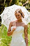 Romantic Battenburg Lace Parasol Adult Size with Embroidery in 8 Colors