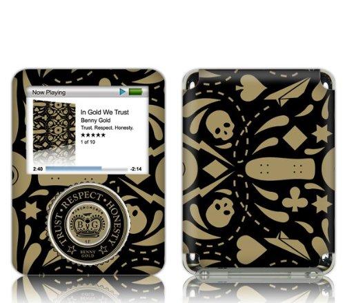 Zing Revolution Ms-Bg20030 Ipod Nano- 3Rd Gen- Benny Gold- In Gold We Trust Skin front-545587
