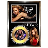 BEYONCE KNOWLES - SIGNED FRAMED GOLD VINYL RECORD CD & PHOTO DISPLAY - i am sasha fierce