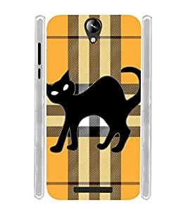 Black Cat Soft Silicon Rubberized Back Case Cover for Micromax Canvas 6 Pro