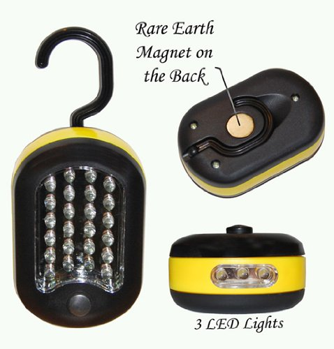 SUPER Bright, 27 LED, Compact Work Light/Flash Light (3 PACK)