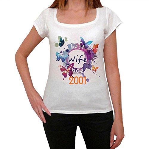2001, Migliore Moglie T-shirt, Best Wife T-shirt, maglietta donna regalo