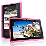 FastTouch(TM) 7 Tablet PC 4GB - PINK, Allwinnwer A13 Boxchip Cortex A8 Android 4.1, 512MB Ram, Multiple Touch Capacitive Scree, WiFi, Camera, Skype, Netflix Movies