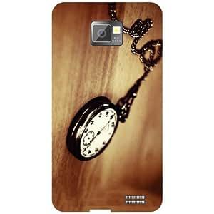 Samsung I9100 Galaxy S2 - Clock Matte Finish Phone Cover