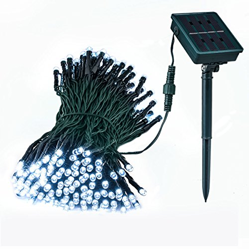 Solar Outdoor Garden String Lights, Loende Waterproof 72ft 200 LED 8 Mode White Christmas Fairy Decor Lighting for Indoor, Home, Bedroom, Yard, Patio, Gazebo, Wedding