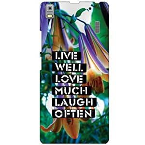 Lenovo A7000 PA030023IN Back Cover - Live Much Designer Cases