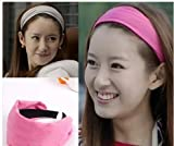 Smile Fashion Fleece Wide Hair Bands Head Bands Hair 9 Solid Color Hair Clips