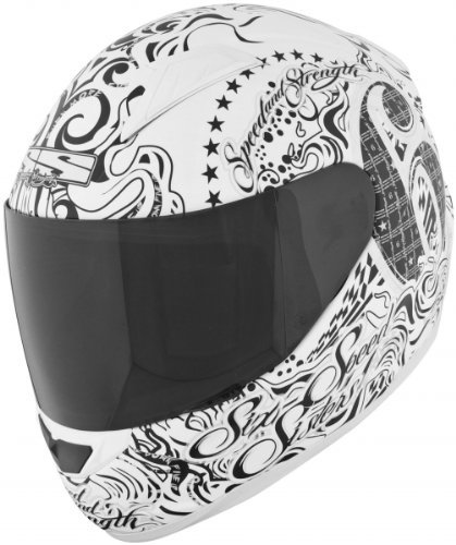 Speed & Strength SS1500 Six Speed Sisters Helmet , Distinct Name: Six Speed Sisters White, Primary Color: White, Helmet Type: Full-face Helmets, Helmet Category: Street, Size: XS, Gender: Mens/Unisex 875692