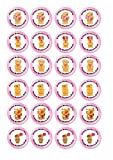 24 cupcakes cute mother day bears themed Cake Toppers 4cm On wafer rice paper