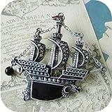 アンティーク風 オシャレな 海賊船 モチーフ ブローチ バッジ 2個セット カップルでどうぞ