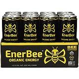 EnerBee Organic Energy Drink (Green Tea, Yerba Mate, Honey) (12 Pack)
