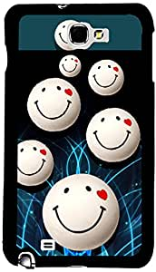 PrintVisa Love Smiley Case Cover for Samsung Galaxy Note 1