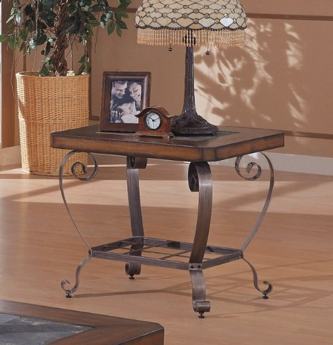 Cheap Brown Slate End Table by Coaster (B000EYLN26)