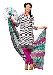 Rajnandini Women's cotton Printed Unstitched salwar suit Dress Material (Multi Colur _Free Size)