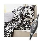 Sunbeam Microplush Electric Heated Throw Blanket Ivory Whisper 8030-030-830