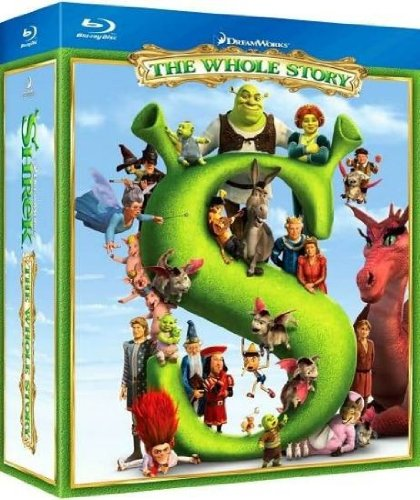 Cover art for  Shrek: The Whole Story (Shrek / Shrek 2 / Shrek the Third / Shrek Forever After) [Blu-ray]