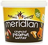 Meridian Natural Crunchy Peanut Butter With No Added Salt 1 Kg (Pack of 2)