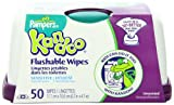 Pampers Kandoo Flushable Wipes, Sensitive, 50 Count Tub (Pack Of 6)