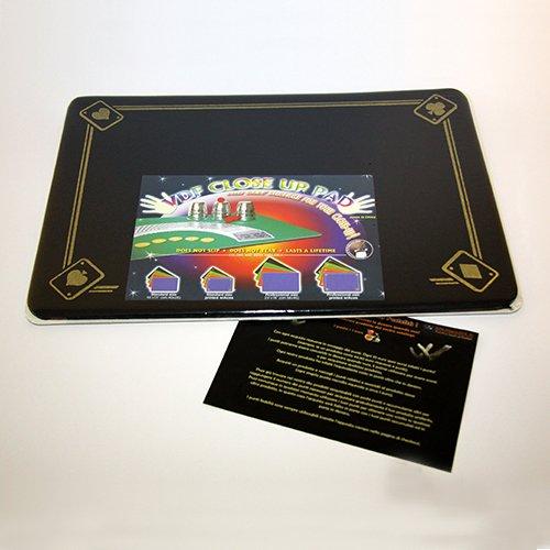 Tappetino per Close Up - 4 Assi Nero - 40 x 27,5 cm - Accessori - Giochi di Prestigio e Magia