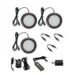 Lightkiwi® C9203 3.5 inch Cool White LED Puck Lights Premium Kit (3 Pack)