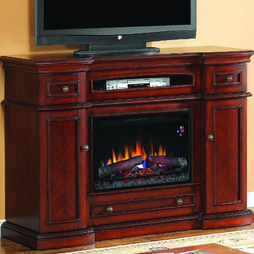 Classicflame 26mm2490-c233 Advantage Montgomery Electric Fireplace With Media Console - Vintage Cherry
