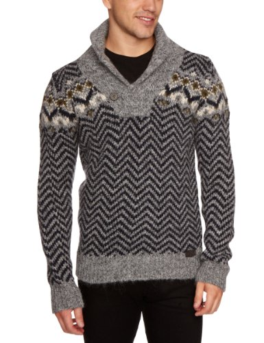 energie Galad Troyer Pullover Men's Jumper Black Mixed X-Large