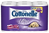 Cottonelle Ultra Toilet Paper Double Roll, White 176, 12 Pack (Pack of 4)