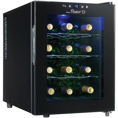 Danby Dwc1233Blsc 12 Bottle Maitre D Countertop Wine Cooler