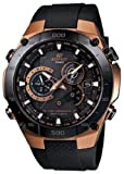 Casio EQWM1100CG-1A Men's Edifice Tough Solar Chronograph Atomic Resin Strap Rose Gold Tone Steel Alarm Watch