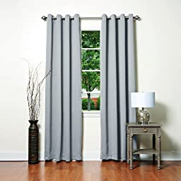 Best Home Fashion Thermal Insulated Blackout Curtains - Antique Bronze Grommet Top - Grey - 52\